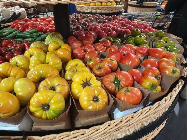 Paris - la fayette tomatoes